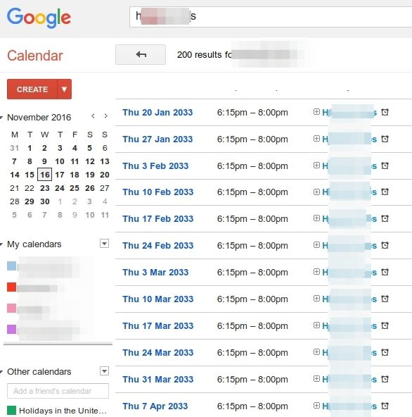 How to delete multiple Google Calendar events – RedPacket