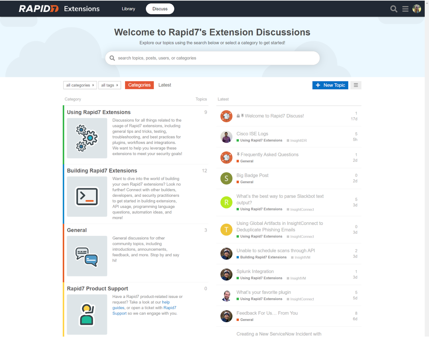 Welcome to Rapid7's Extension Forum