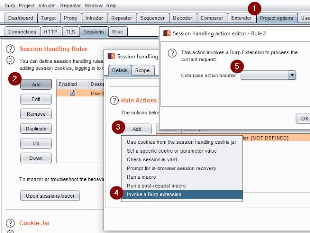 generator burp extension 9 session handling action