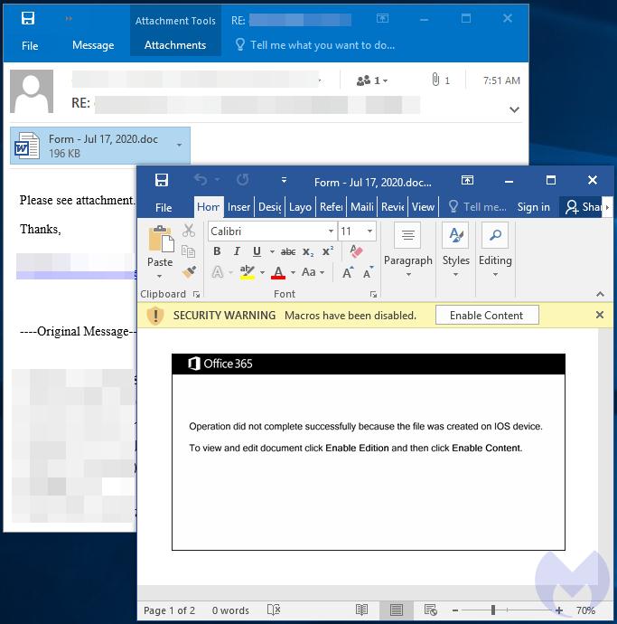 emotet email