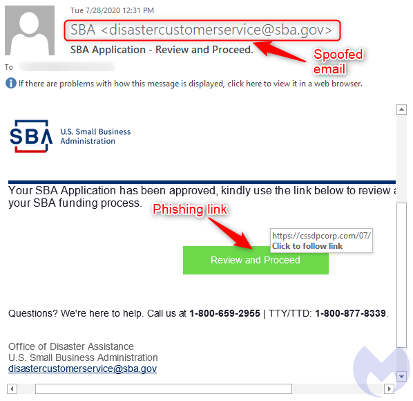 traditional US SBA scam