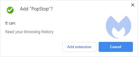 PopStop install message