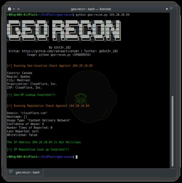 geo recon