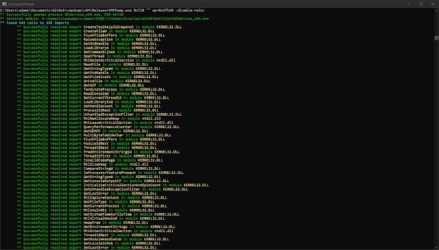 vmpdump 1 screenshot
