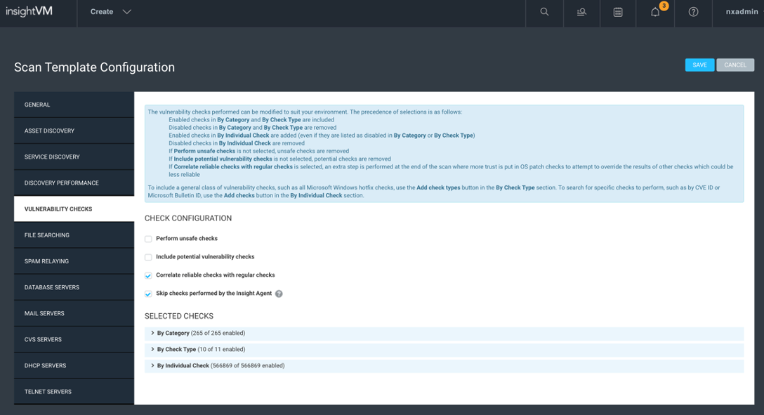 Scan Template Best Practices in InsightVM