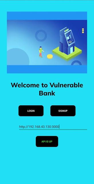 Damn Vulnerable Bank 1 screen1