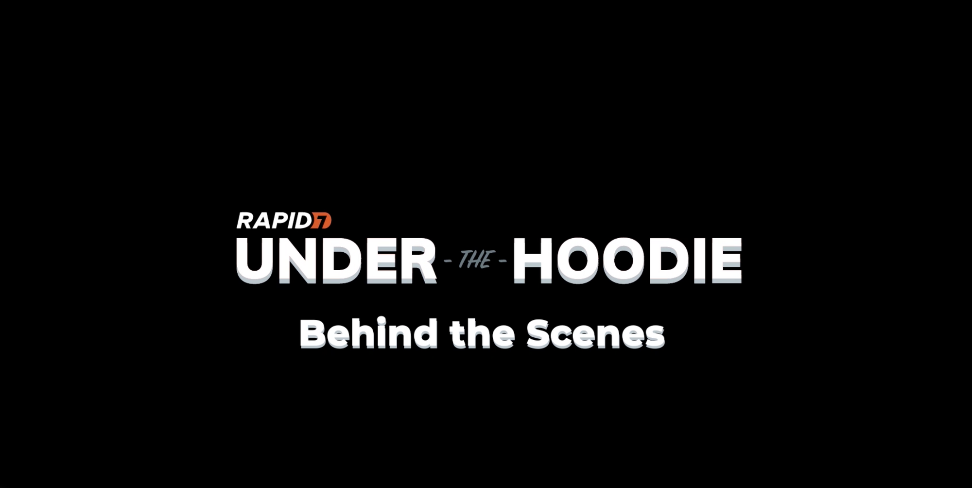 Behind the Scenes: Under the Hoodie 2020 Video Series
