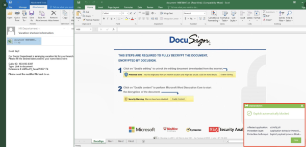 Egregor DocuSign mail