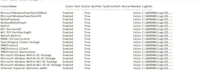 Wynis 9 W7 InstalledOptionnalFeature
