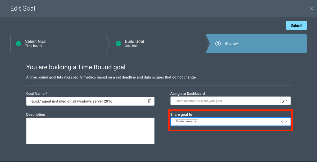 Set New InsightVM Goals and Share with Your Team for Increased Visibility and More Efficient Execution