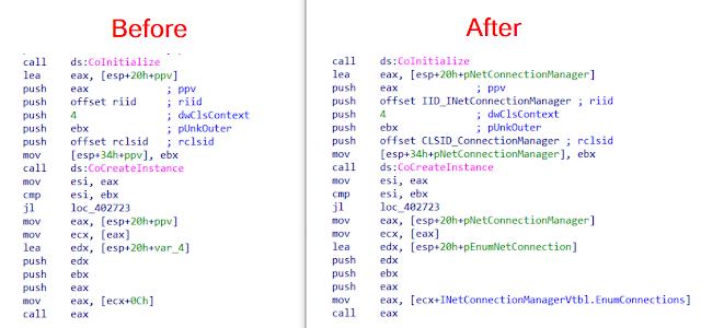 COM Code Helper 1 COM Code Before After 1 1
