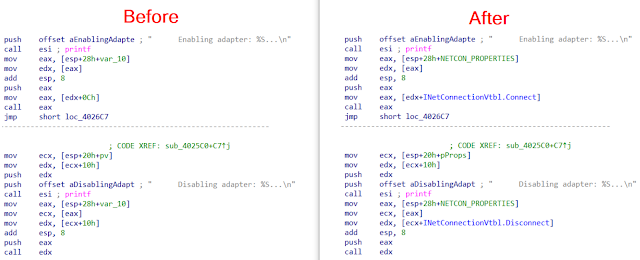 COM Code Helper 3 COM Code Before After 3