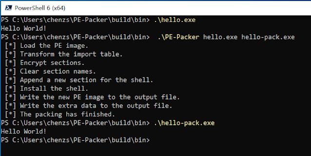 PE Packer 1 test helloworld
