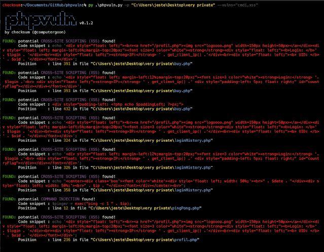 phpvuln 3 screenshot1
