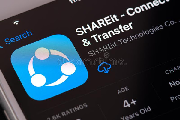 shareit app logo guilherand granges france february smartphone compatible various platforms allows users to share files 210044564