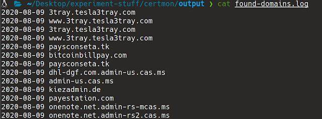 CertEagle 8 found domains