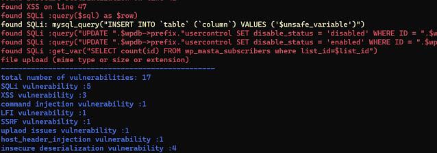 php code analysis 1 run