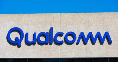 qualcomm logo sign headquarters building qualcomm incorporated american multinational semiconductor 201136555