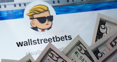 wallstreetbets reddit community web page seen tablet screen surrounded us dollars concept investment wallstreetbets 209442017